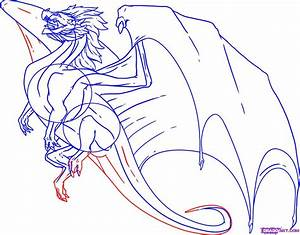How to Draw a Flying Dragon, Step by Step, Dragons, Draw a ...