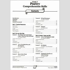 Poetry Comprehension Grade 4 (031804) Details  Rainbow Resource Center, Inc