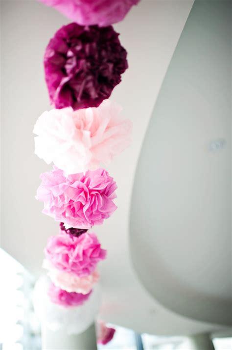 wedding decoration ideas  paper pom poms