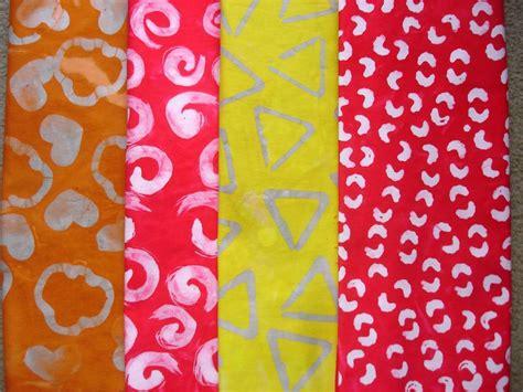 kathys art project ideas gel glue batik lesson