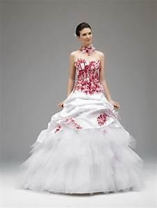 robe mariee rouge et blanche With robe de mariée rouge avec alliance or blanc
