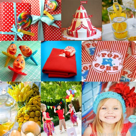 Carnival Birthday Decorations - birthday inspiration boards vintage circus