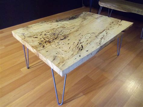 primitive kitchen island made live edge spalted maple square coffee table by