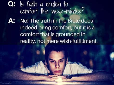 faith  god  crutch
