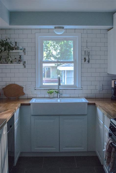 butcher block cabinet tops white subway tile ikea butcher block counters domsjo double farmhouse sink for the home