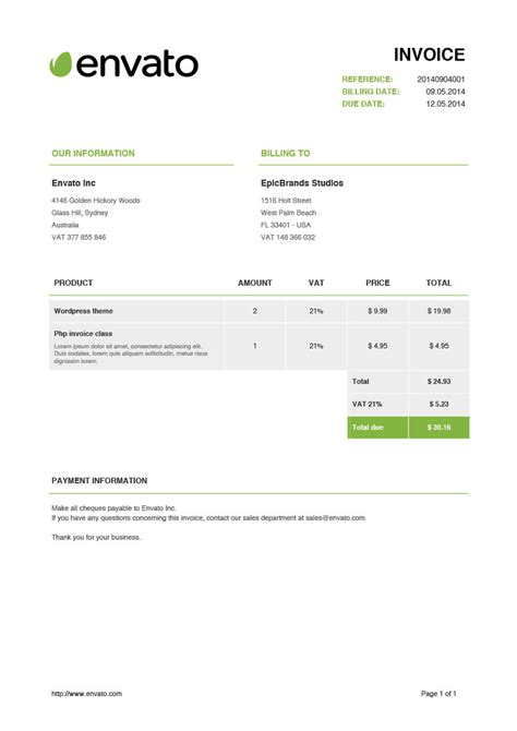 invoicr php class  beautiful invoices  goforepic