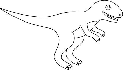 Tyrannosaurus Rex Line Art Free Clip Art
