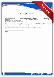 free printable promissory note in series form generic With free legal documents promissory note