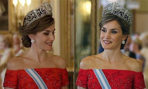 Queen Letizia Spain Fleur Lys Tiara Revealed Hello