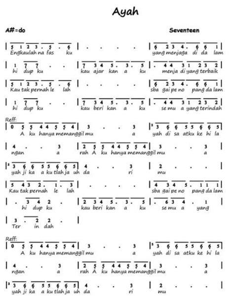 not indonesia pusaka pianika 100 not angka lagu pop pianika anak anak balok laskar pelangi