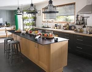 Cuisine Style Industriel Bois : cuisine style industriel castorama ~ Teatrodelosmanantiales.com Idées de Décoration