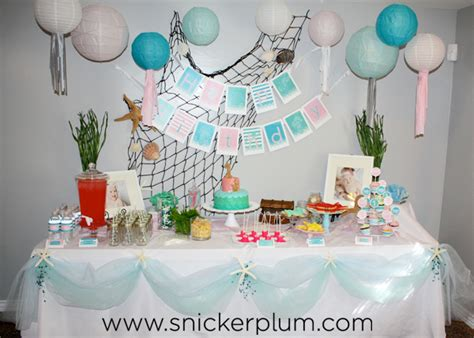 girly mermaid birthday party food snickerplums party