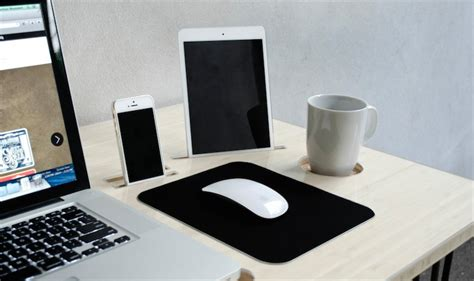 bureau imac kickstarter un bureau conçu pour le mac avec un dock