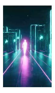 pink and teal digital wallpaper #neon #cyberpunk #4K # ...
