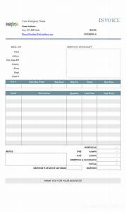 basic service bill sample with deposit With 50 deposit invoice sample