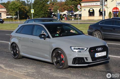 Audi Rs3 Sportback 8v 2018  1 October 2017 Autogespot