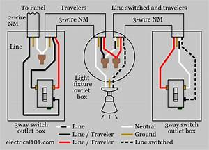 3 way switch wiring electrical 101 With 3 way switch no red