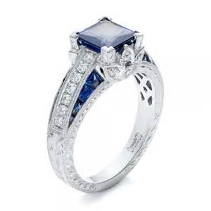 milgrain wedding band sapphire custom design rings in bellevue and seattle