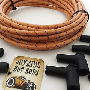 Vintage Cloth Covered Spark Plug Wire Kit For Electronic