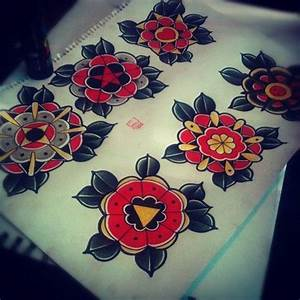 traditional flowers | Tattoos | Pinterest | Traditional ...