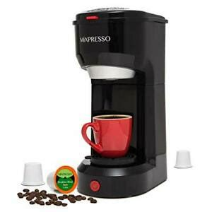 This coffee maker comes with a scoop filter that you can use to serve one person at a time. Design Single Serve One Cup Coffee Maker K-Cup Pods & Ground 722589233463   eBay
