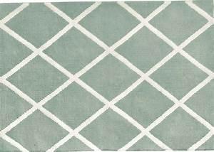 tapis forme losange en polyester interieur exterieur chez With tapis gris vert