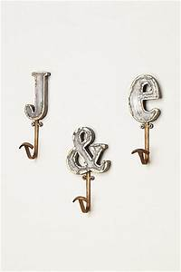 marquee letters anthropologie and hooks on pinterest With anthropologie letter hooks