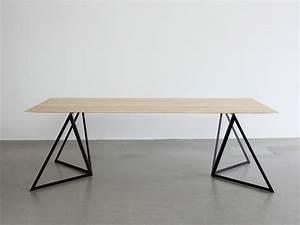 Pied De Table Original : stalen onderstellen voor een tafel inspiraties ~ Teatrodelosmanantiales.com Idées de Décoration