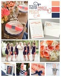 mariage bleu  corail coral wedding decoration ideas