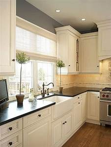 25 antique white kitchen cabinets ideas that blow your With kitchen colors with white cabinets with black white canvas wall art