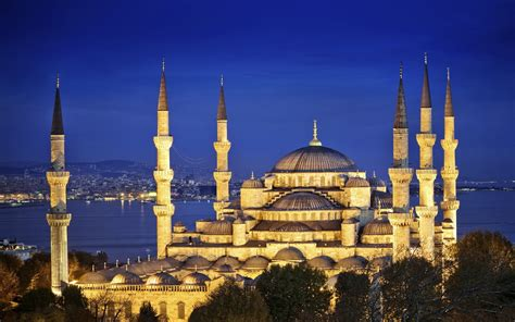 Blue Mosque Wallpaper by Sultan Ahmet Mosque The Blue Mosque Istanbul Hd Duvar