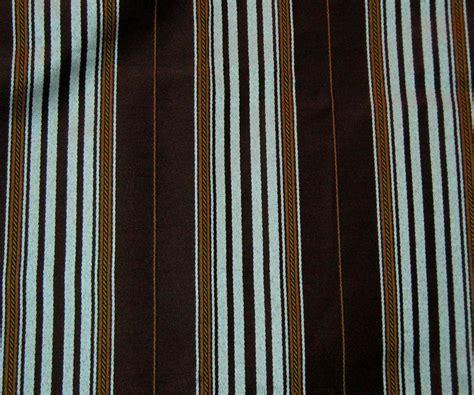 raymond waites brown blue stripe fabric shower