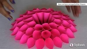 DIY Room Decor with Amazing Dahlia Flower DIY Crafts