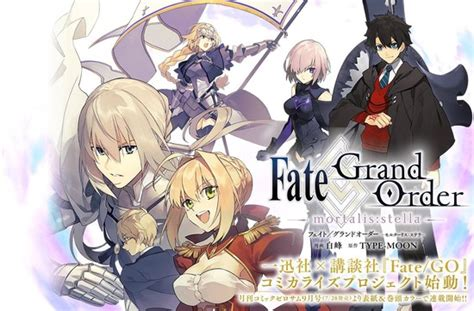 next fate anime series fate grand order project launches with 2
