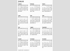 تقويم2018 2 2019 2018 Calendar Printable with