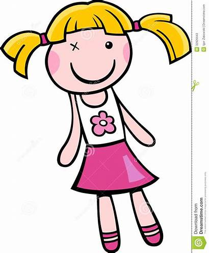 Doll Cartoon Clip Clipart Toy Illustration Dolls