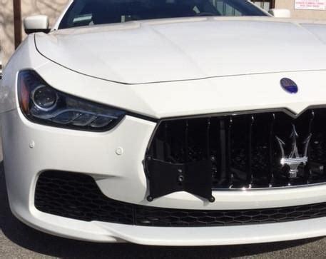 darkside front tow hook license plate mount