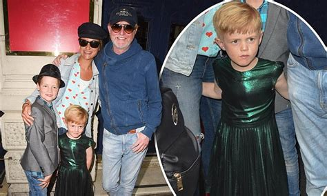 Chris Evans and wife enjoy family night out in West End ...