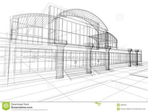 immeuble de bureaux immeuble des bureaux 3d abstrait illustration stock