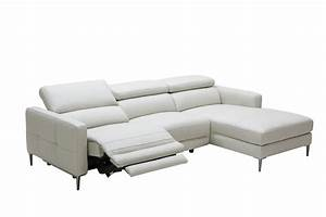 divani casa booth modern light grey leather sectional sofa With leather sectional sofa with electric recliners