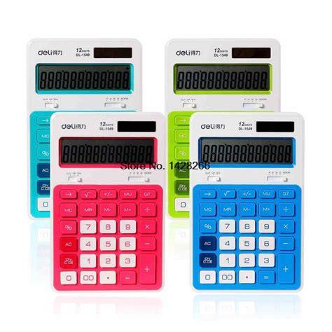 dual power calculadora electronic big display calculating candy color