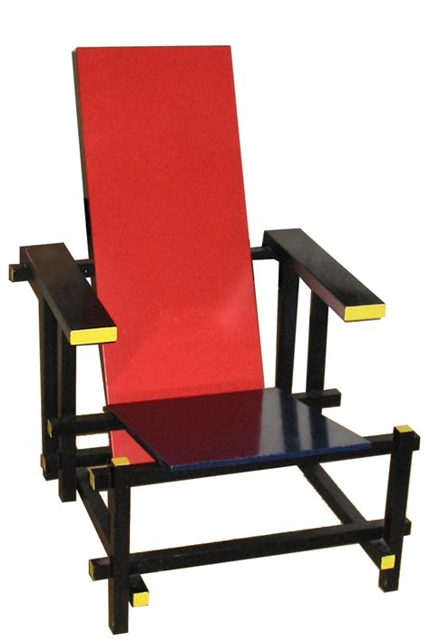 chaise et bleue de stijl
