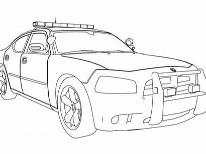 Coloring Suv Pages Cop Police Printable Cars
