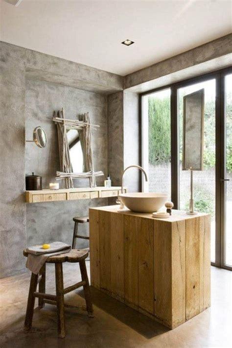 salle de bain rustique quelle vasque design rustique pour votre salle de bain