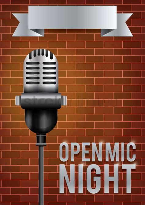 foto de Open mic night poster design Vector Image 1974994