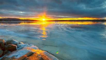 Ocean Cool Sunset Desktop Nature Backgrounds Sky