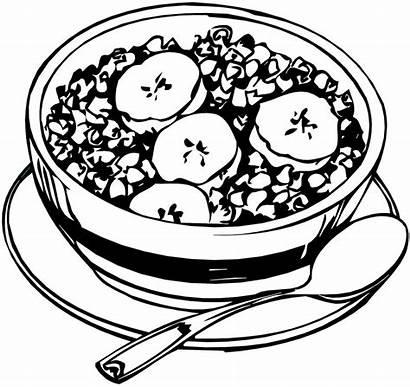 Cereal Granola Bowl Drawing Honey Sketch Healthy