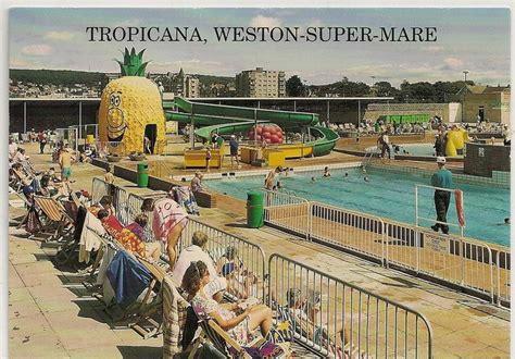 postcard  tropicana weston super mare