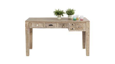 bureau bois clair achetez votre bureau 5 tiroirs en bois clair ethnique puro