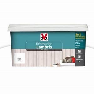 Peinture Pour Lambris : peinture renovation lambris blanc 2l v33 castorama ~ Melissatoandfro.com Idées de Décoration
